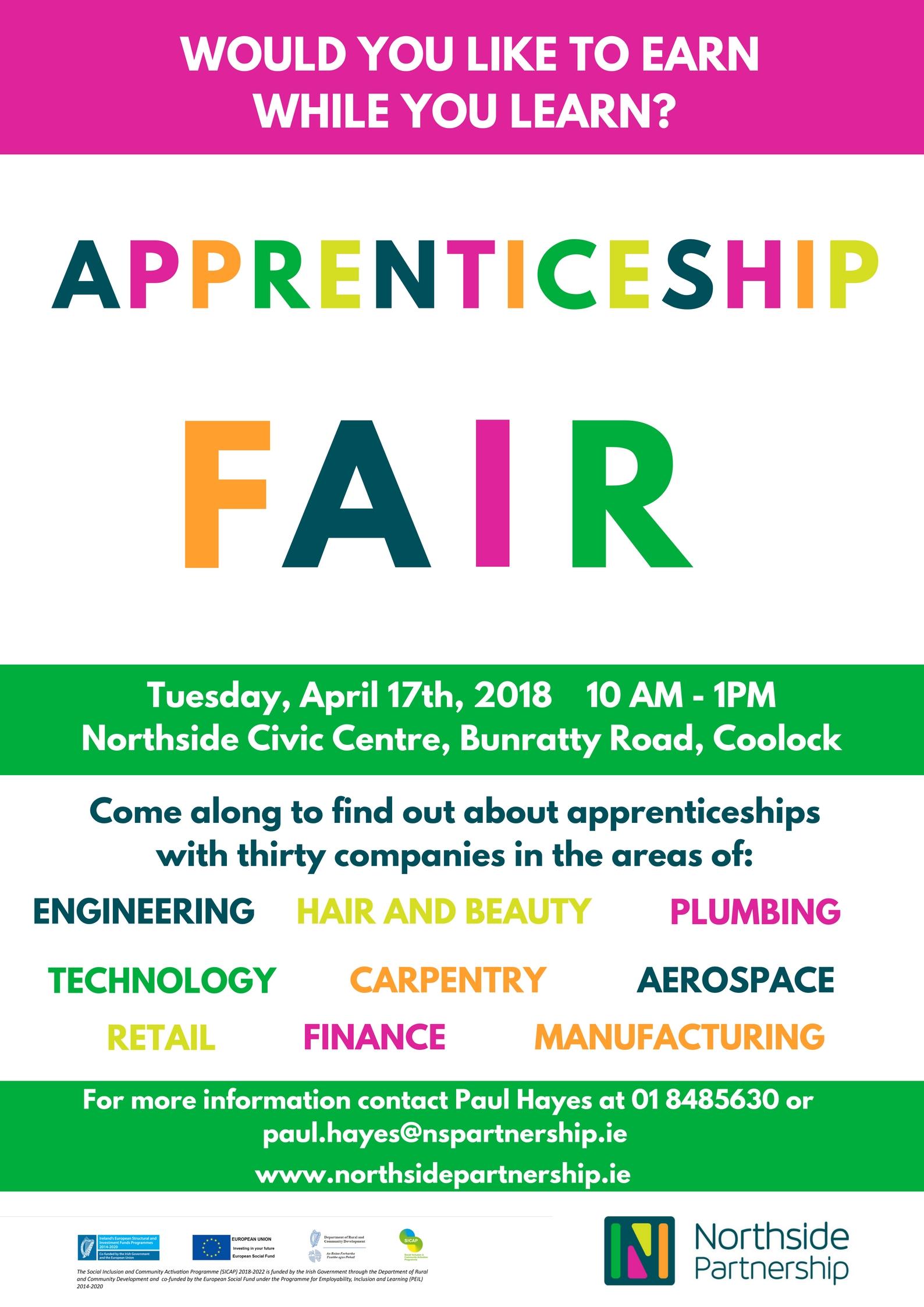 Apprenticeship Fair April 17th!